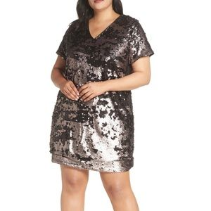 1.State Sequin Shift Dress 3X